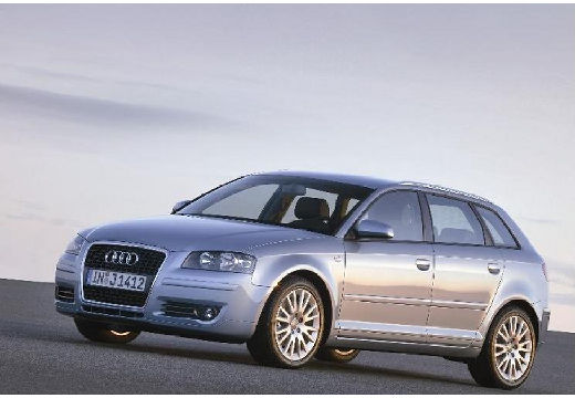 AUDI A3 Sportback I hatchback silver grey przedni lewy