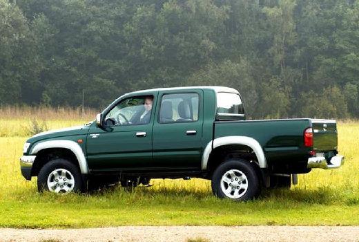 Toyota HiLux II pickup zielony tylny lewy