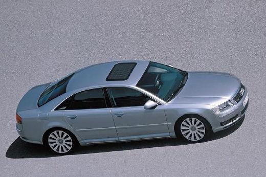 AUDI A8 4E I sedan silver grey boczny prawy