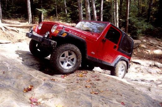 JEEP Wrangler II hardtop czerwony jasny przedni lewy