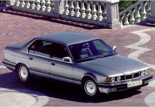BMW Seria 7 E32 sedan silver grey przedni prawy