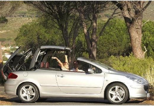 PEUGEOT 307 CC II kabriolet silver grey boczny prawy