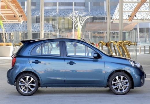 NISSAN Micra IX hatchback niebieski jasny boczny prawy