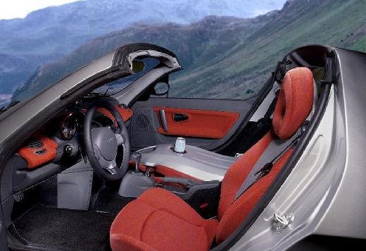 SMART roadster silver grey wnętrze