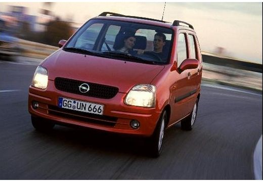 OPEL Agila I hatchback czerwony jasny przedni lewy