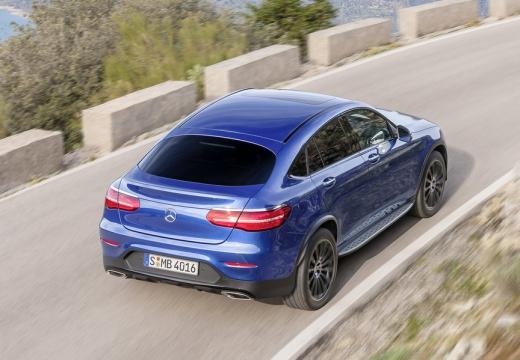 MERCEDES-BENZ Klasa GLC hatchback niebieski jasny tylny prawy