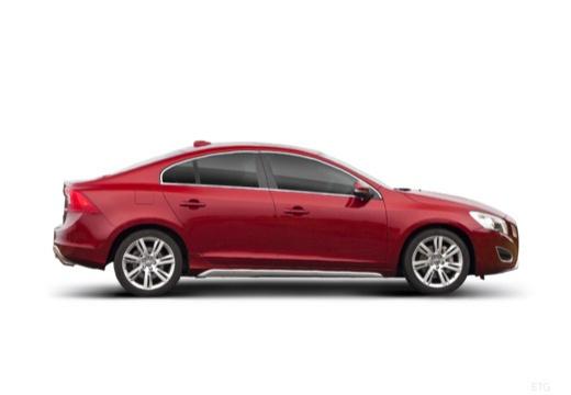 VOLVO S60 IV sedan czerwony jasny boczny prawy