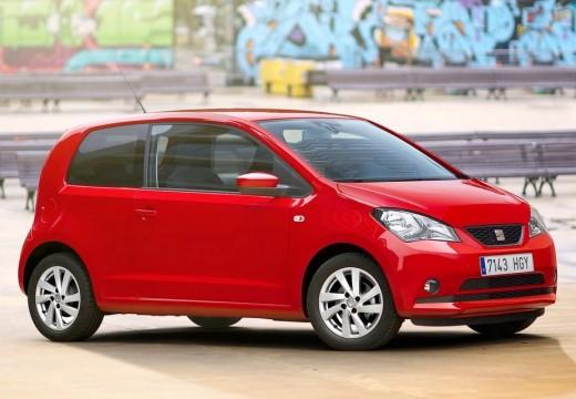 SEAT Mii hatchback czerwony jasny przedni prawy