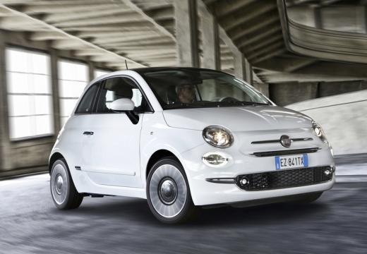 FIAT 500 hatchback biały przedni prawy