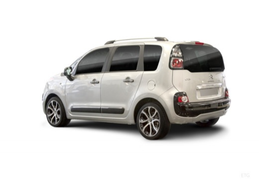 CITROEN C3 Picasso hatchback silver grey tylny lewy