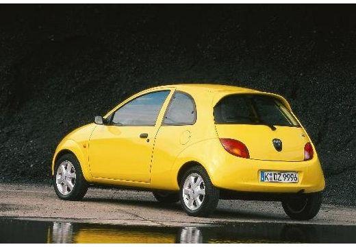FORD Ka hatchback żółty tylny lewy