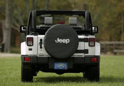 JEEP Wrangler III soft top biały tylny