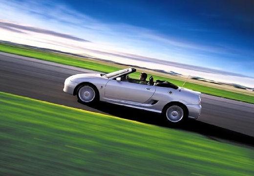 MG TF roadster silver grey boczny lewy