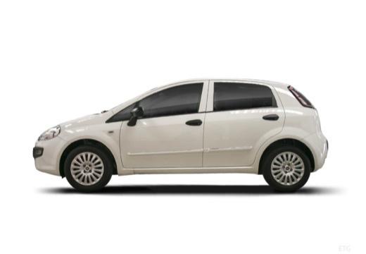 FIAT Punto Evo hatchback biały boczny lewy