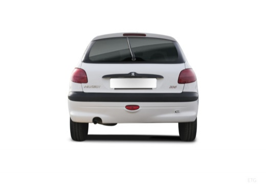 PEUGEOT 206 I hatchback tylny
