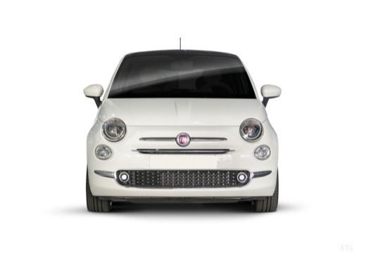 FIAT 500 hatchback biały przedni