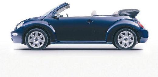 VOLKSWAGEN New Beetle Cabriolet I kabriolet niebieski jasny boczny lewy