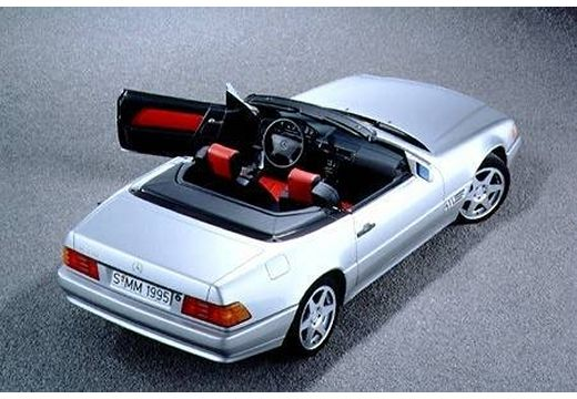 MERCEDES-BENZ Klasa SL SL R129 I kabriolet silver grey tylny prawy