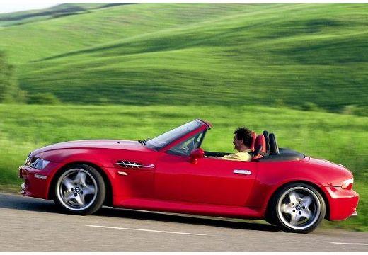 BMW Z3 roadster czerwony jasny boczny lewy