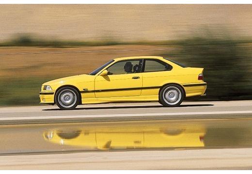BMW Seria 3 coupe żółty boczny lewy