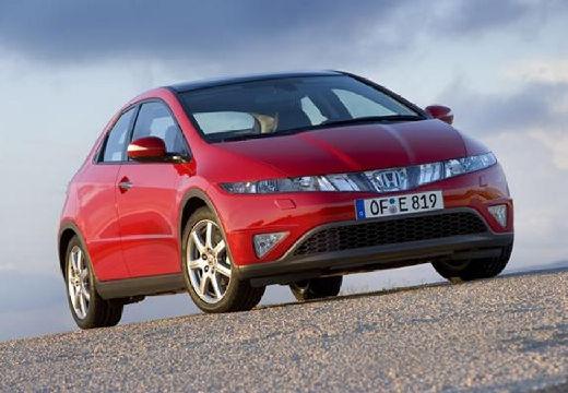 HONDA Civic VI hatchback czerwony jasny przedni prawy