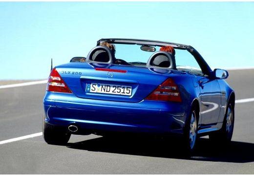MERCEDES-BENZ Klasa SLK SLK R 170 kabriolet niebieski jasny tylny prawy