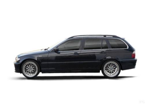 BMW Seria 3 Touring E46/3 kombi czarny boczny lewy