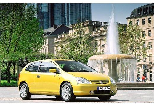 HONDA Civic IV hatchback żółty przedni prawy