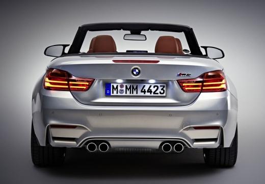BMW Seria 4 Cabrio F33 kabriolet silver grey tylny