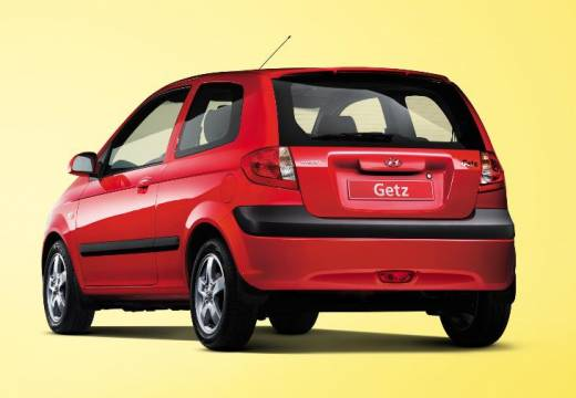 HYUNDAI Getz II hatchback czerwony jasny tylny lewy