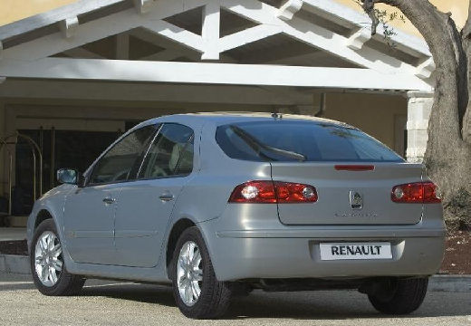 RENAULT Laguna II II hatchback silver grey tylny lewy