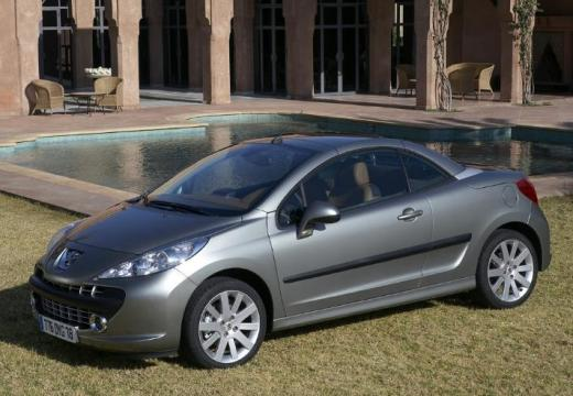 PEUGEOT 207 kabriolet silver grey przedni lewy