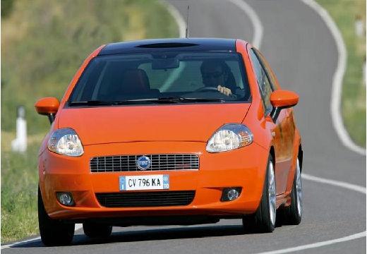 FIAT Punto Grande hatchback pomarańczowy przedni lewy