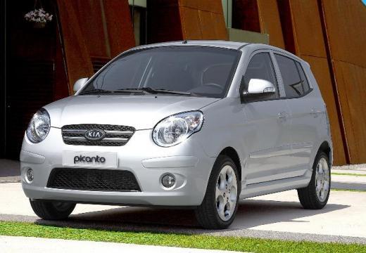 KIA Picanto II hatchback silver grey przedni lewy