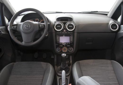 OPEL Corsa D II hatchback niebieski jasny tablica rozdzielcza