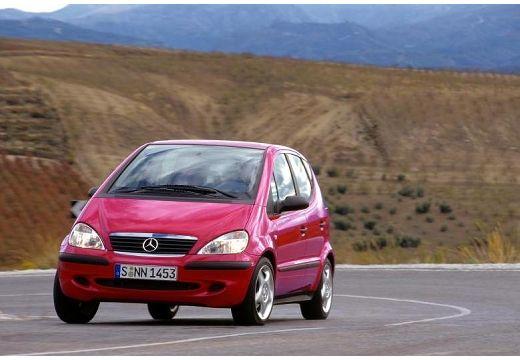 MERCEDES-BENZ Klasa A W 168 II hatchback czerwony jasny przedni lewy