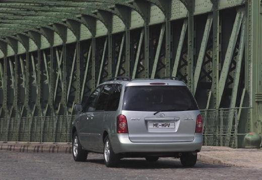 MAZDA MPV III van silver grey tylny lewy