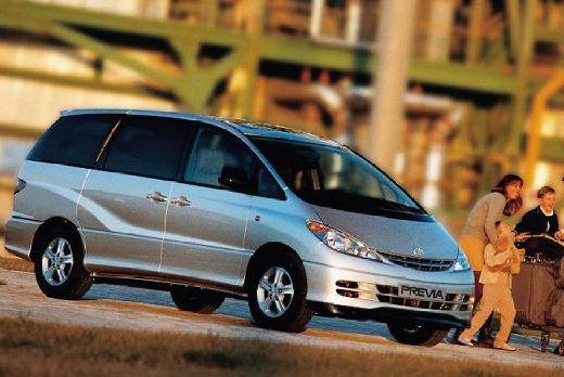 Toyota Previa II van silver grey przedni prawy