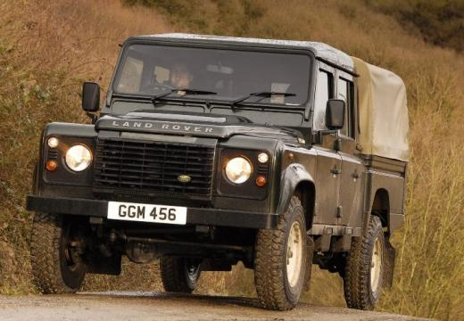 LAND ROVER Defender 110 III pickup zielony przedni lewy