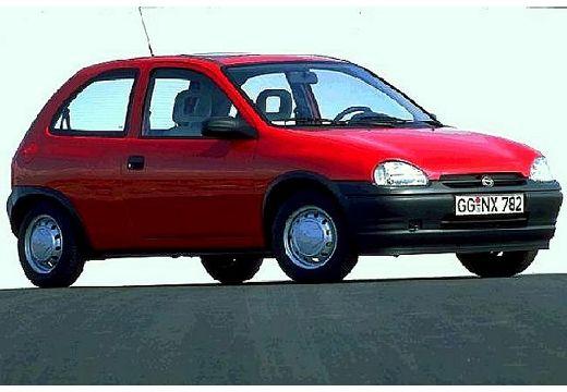 OPEL Corsa B hatchback czerwony jasny przedni prawy