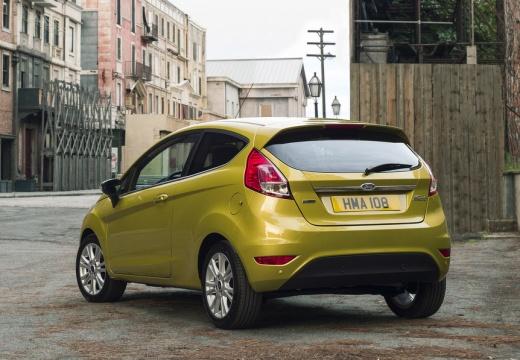 FORD Fiesta VIII hatchback żółty tylny lewy