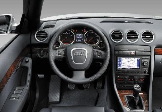 AUDI A4 kabriolet silver grey tablica rozdzielcza