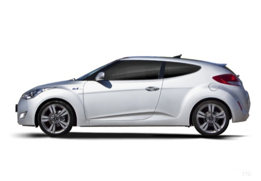HYUNDAI Veloster I coupe silver grey boczny lewy