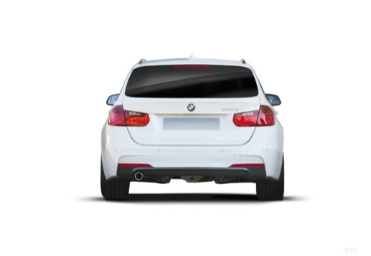 BMW Seria 3 Touring F31 I kombi biały tylny