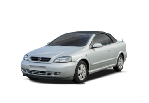 OPEL Astra II Cabriolet kabriolet silver grey przedni lewy