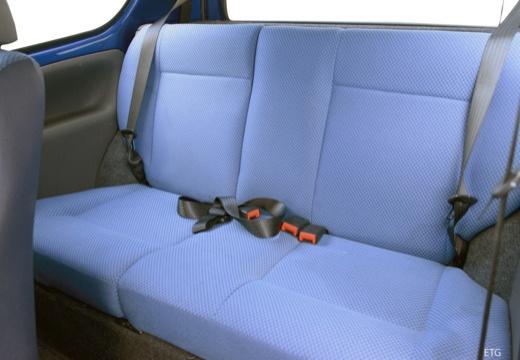 FIAT Seicento I hatchback czarny wnętrze