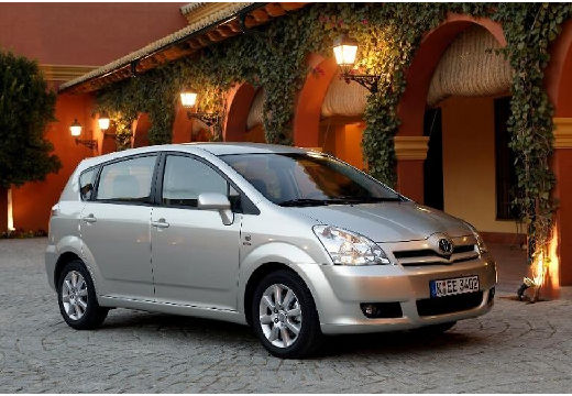 Toyota Corolla Verso II kombi mpv silver grey przedni prawy
