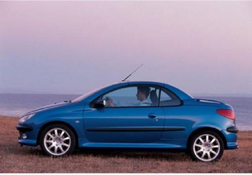 PEUGEOT 206 kabriolet niebieski jasny boczny lewy
