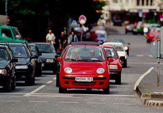 DAEWOO / FSO Matiz hatchback czerwony jasny przedni
