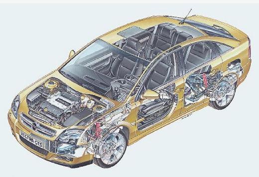 OPEL Vectra C I hatchback złoty prześwietlenie